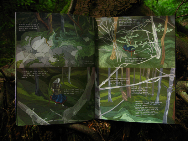 Baba Yaga and The Wolf spread 2