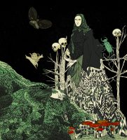 Baba Yaga with Moth and Beetle Print by Tin Can Forest