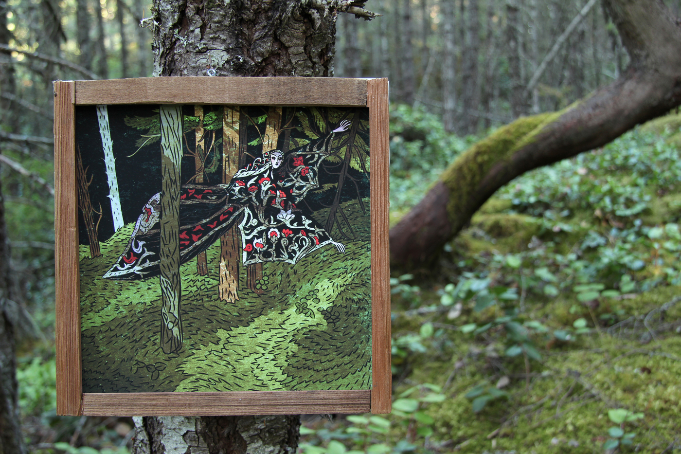 Vampire Print in the woods